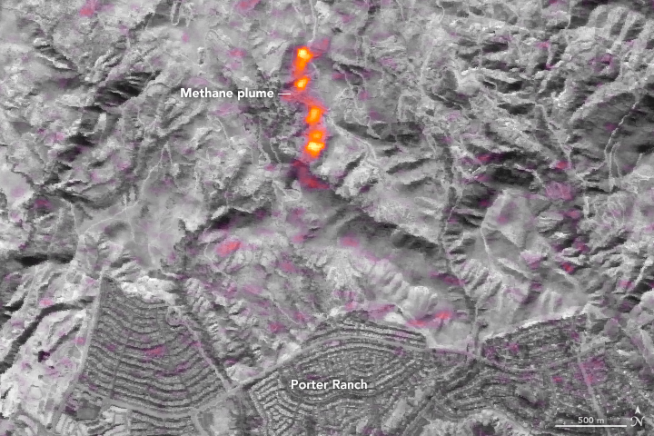 Imaging a Methane Leak from Space