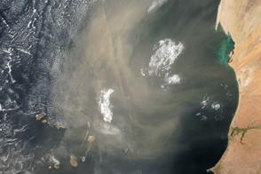Atmosphere Awash with Saharan Dust