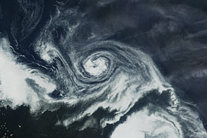 Swirls of Ice in the Labrador Sea