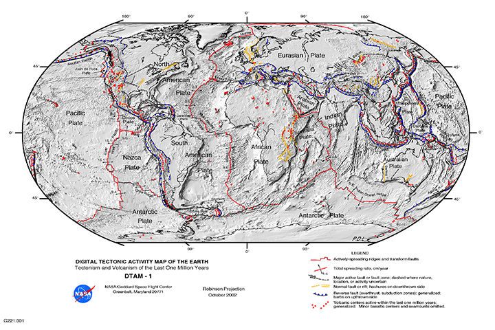 Nasa visible earth digital tectonic activity map digital tectonic activity map gumiabroncs Choice Image