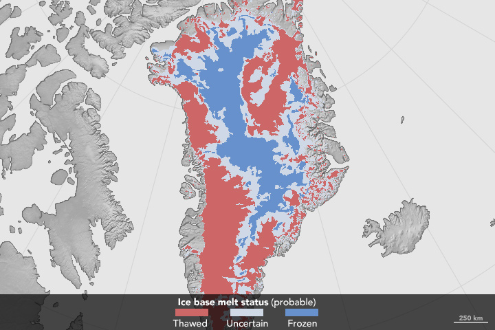 Melt at the Base of the Greenland Ice Sheet - related image preview