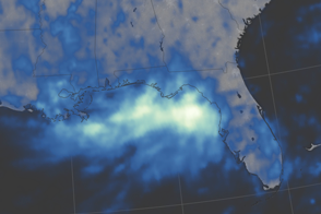 Downpour over the Gulf Coast