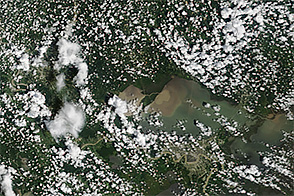Sediment Pours into Lake Pontchartrain