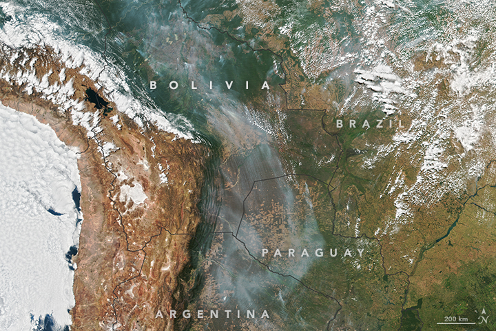 Smoke Over South America
