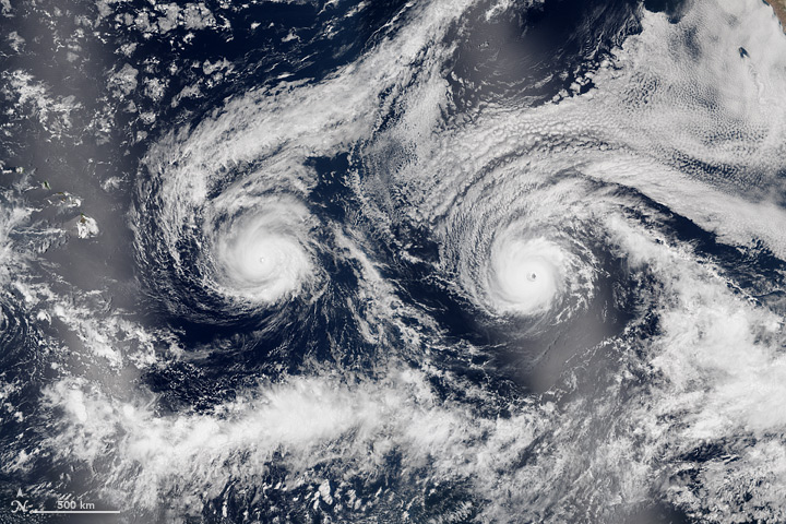 Hurricanes Madeline and Lester