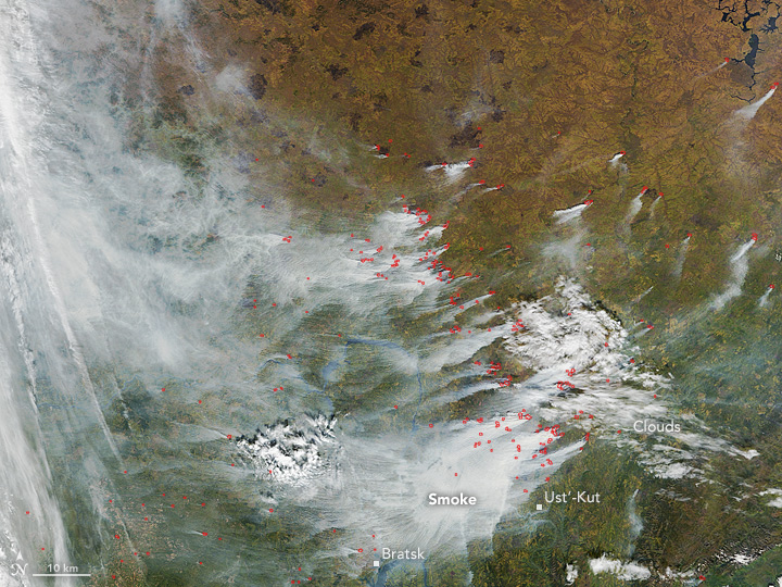 Fires  and Fall in Russia