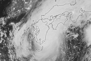 Typhoon Malakas Over Japan