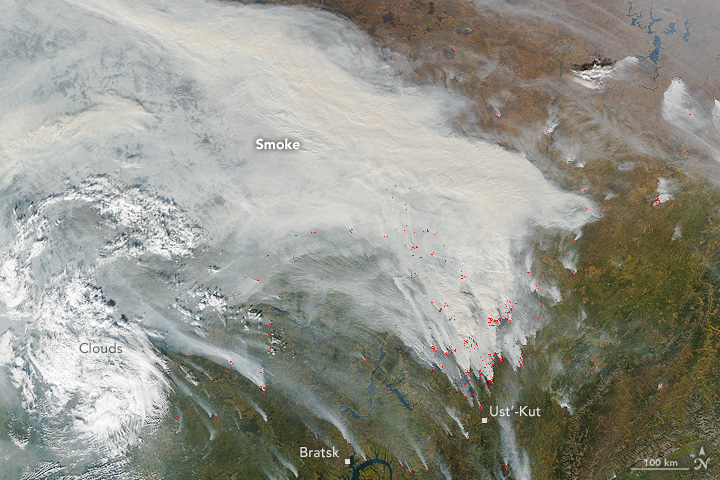 Smoke and Fires in Central Russia - related image preview
