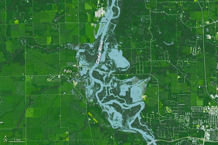 Unseasonal Flooding in Iowa