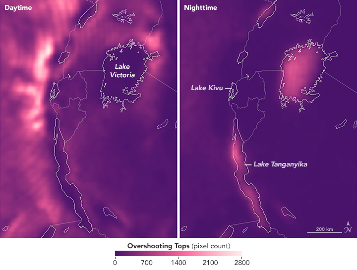 Mapping Storm Patterns Over Lake Victoria