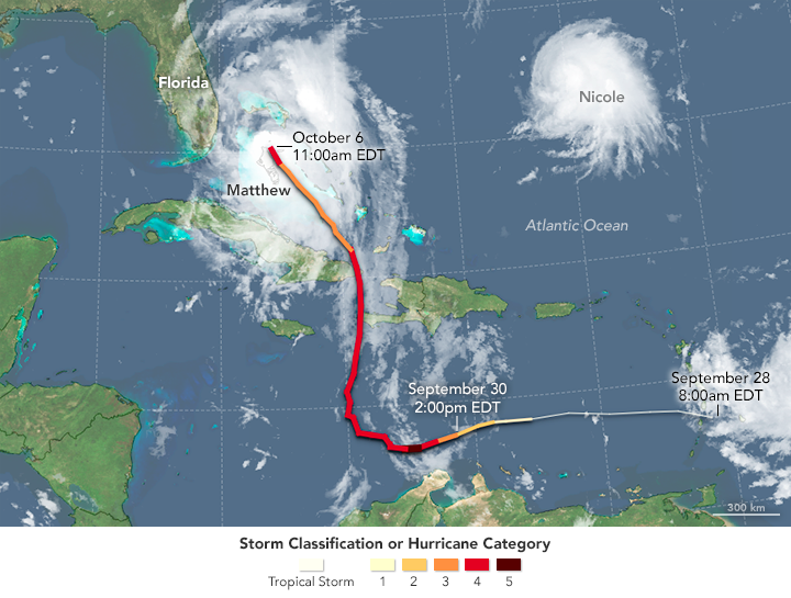Hurricane Matthew en route to Florida