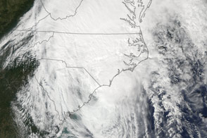 Hurricane Matthew off South Carolina