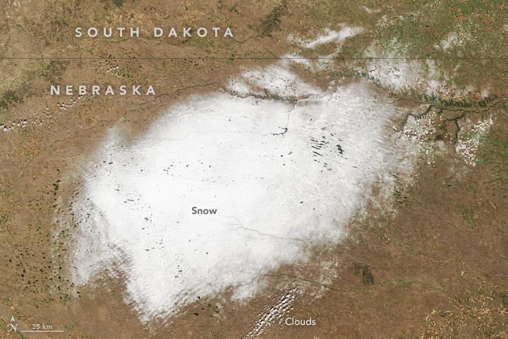 Early Snow in Nebraska