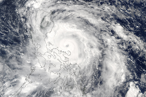 Typhoon Sarika Over the Philippines