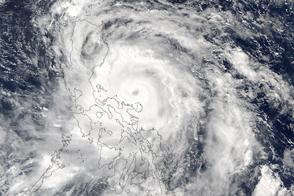Typhoon Sarika Over the Philippines