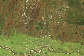 Oil Fields Along the Ob River