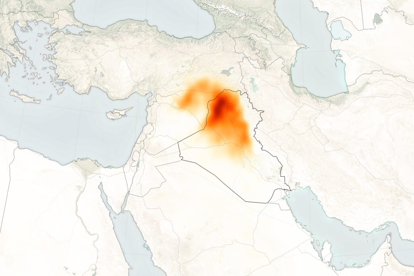 Sulfur Dioxide Spreads Over Iraq - related image preview