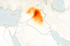 Sulfur Dioxide Spreads Over Iraq - selected image