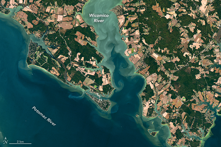 Studying Chesapeake Bay from Above - related image preview