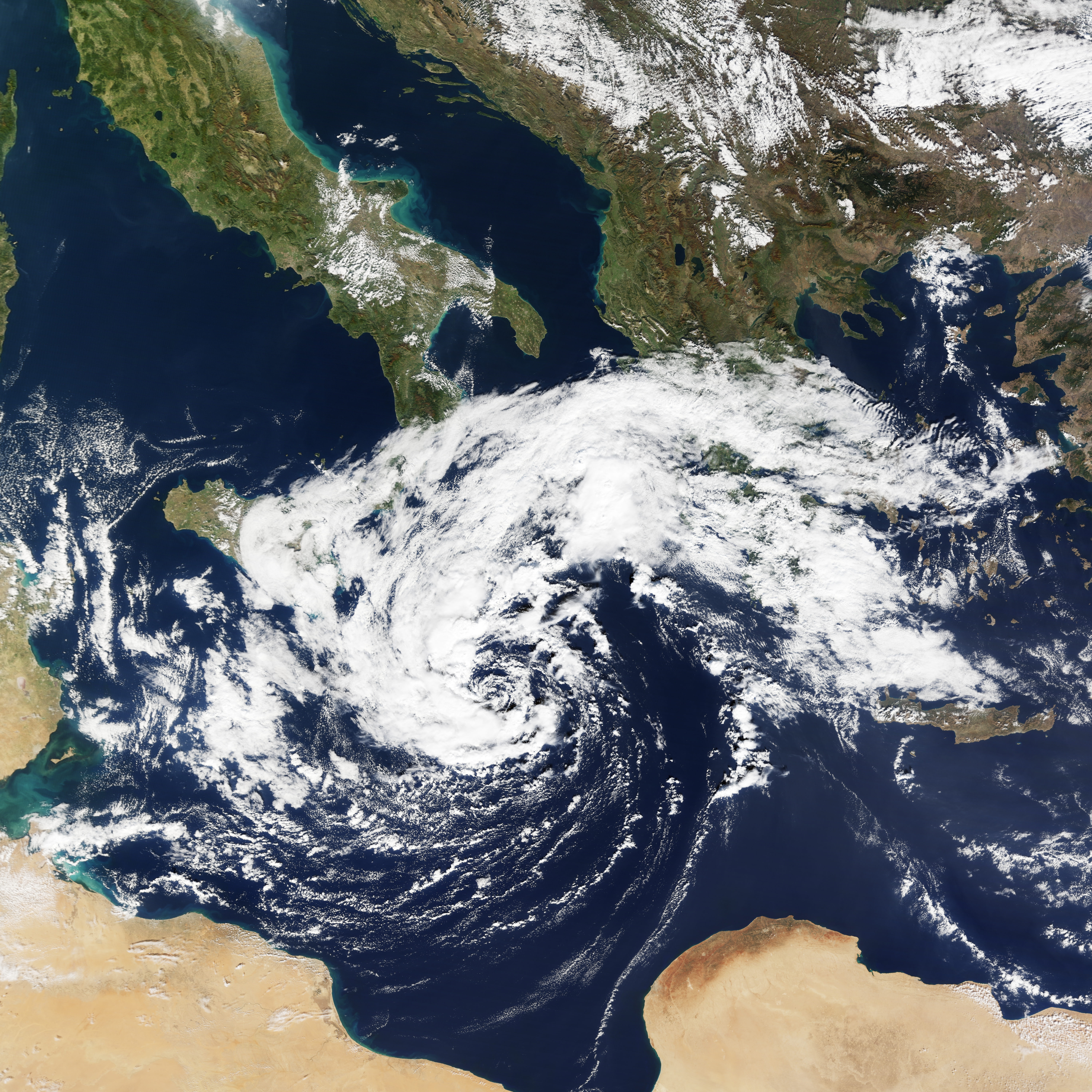 Cyclonic Storm in the Mediterranean  Natural Hazards