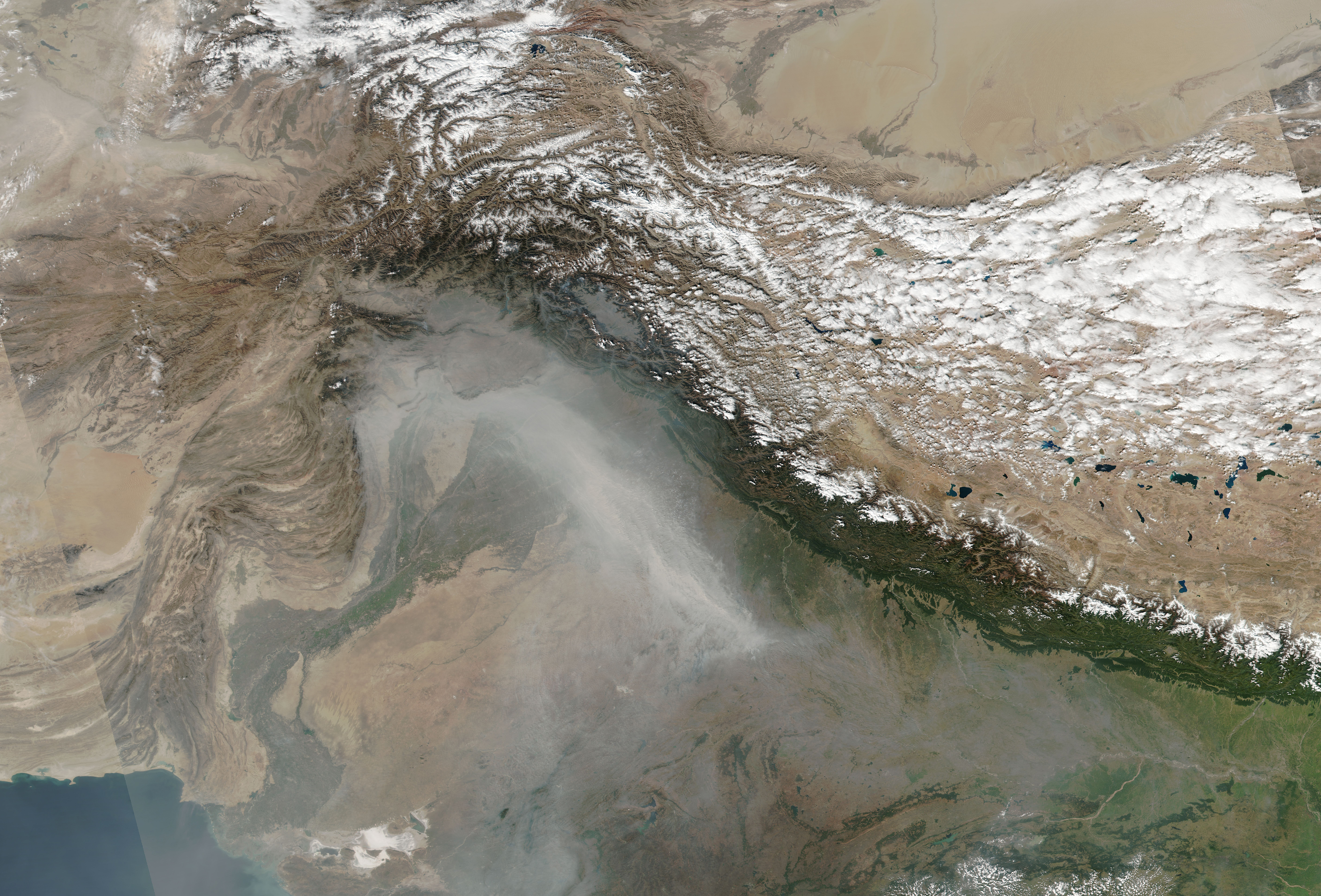 A Stream Of Smoke In Northern India Image Of The Day - Live map india satellite