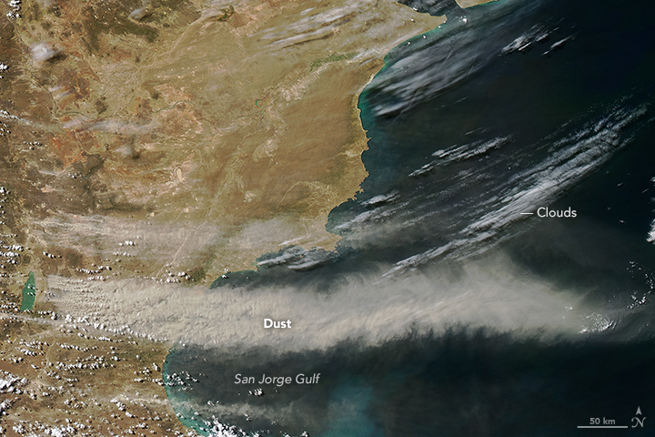 NASA Visible Earth: Dust Over Argentina