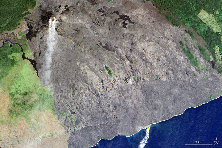 Kilauea's Lava Pours Into the Pacific - related image preview