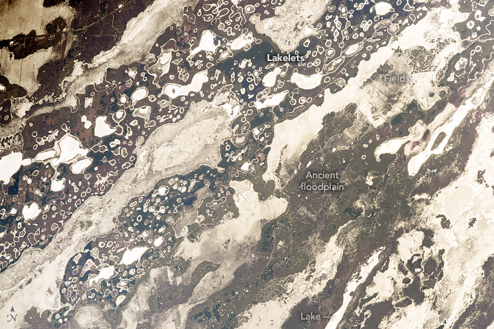 Iberá Wetlands in Sunglint