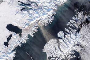 Snow and Ash Above Katmai