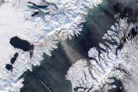 Snow and Ash Above Katmai