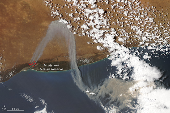 A Zigzagging Smoke Plume Over Western Australia