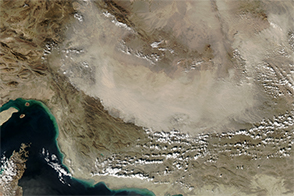 Dust Billows Over Iran