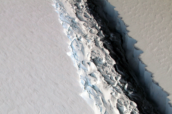 Close Look at a Crack on Larsen C