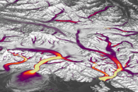 Mapping the Speed of Ice