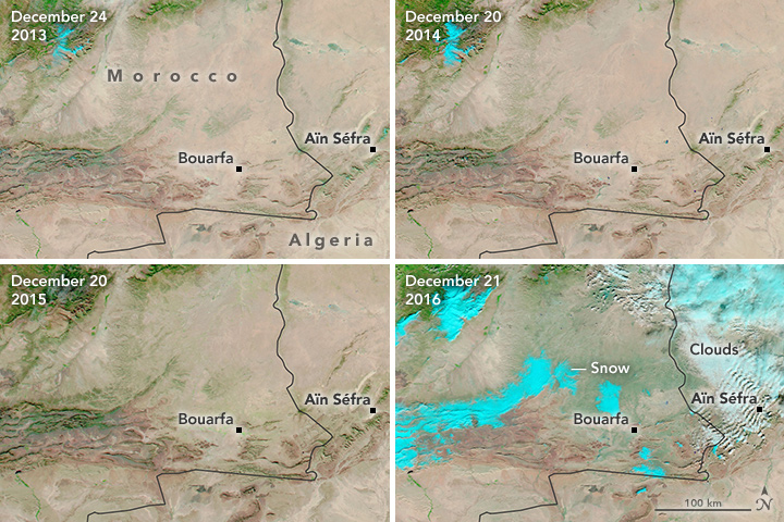 Rare Snow in the African Desert - related image preview