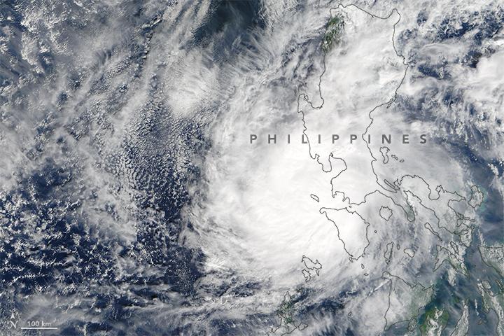 Typhoon Nock-Ten Over the Philippines