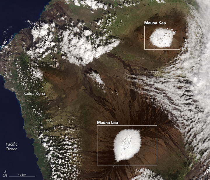 Snow-Capped Summits in Hawaii