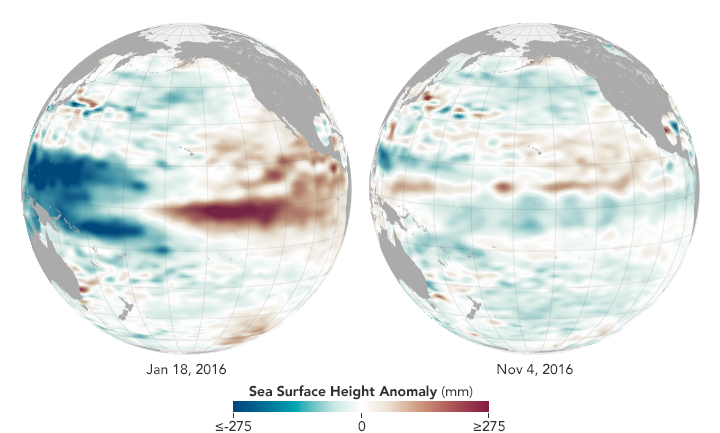 Muted La Niña Follows Potent El Niño