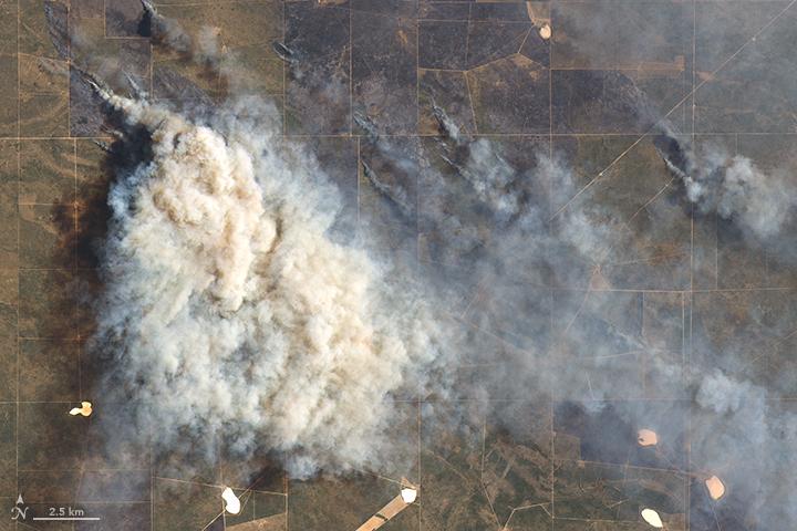 Multiple Fires Blaze in Argentina