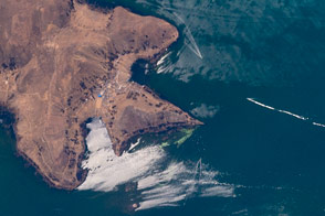 Sunglint on Lake Titicaca