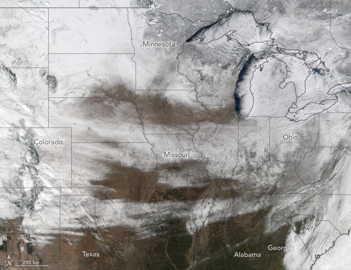 Snow Sweeps Across the United States