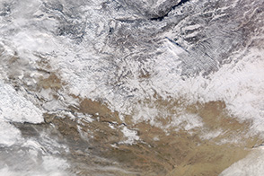 Snow Blankets Northern Mongolia