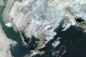 Winter Snowscape in Alaska