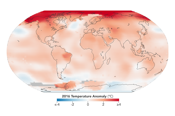 Global Temperature Record Broken for Third Consecutive Year