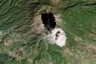 Colima's Plume Casts a Shadow