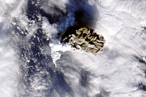 Ash Cloud Tells a Story of a Volcano Rising - selected image