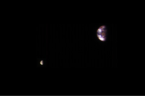 Earth and Moon from Mars - selected image