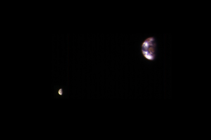Earth and Moon from Mars