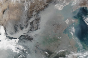 Thick Haze in Eastern China