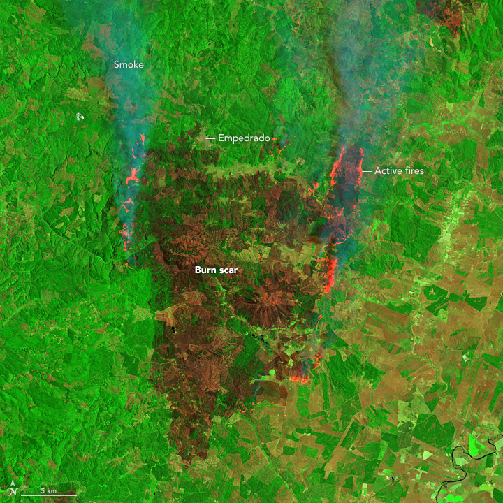 Satellites Capture Different Views of Devastating Fires in Chile